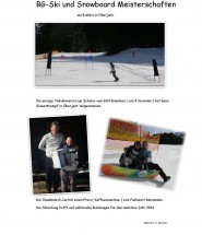 BG-Ski-Bericht