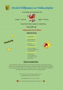 GSV Weihnachtsfeier Plakat2015